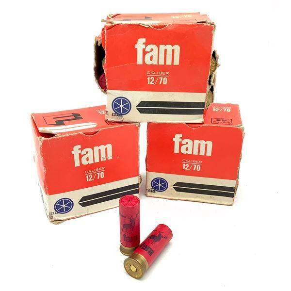 "FAM Hunting 12 Ga 2 3/4"" #9 Ammunition, 75 Rounds"