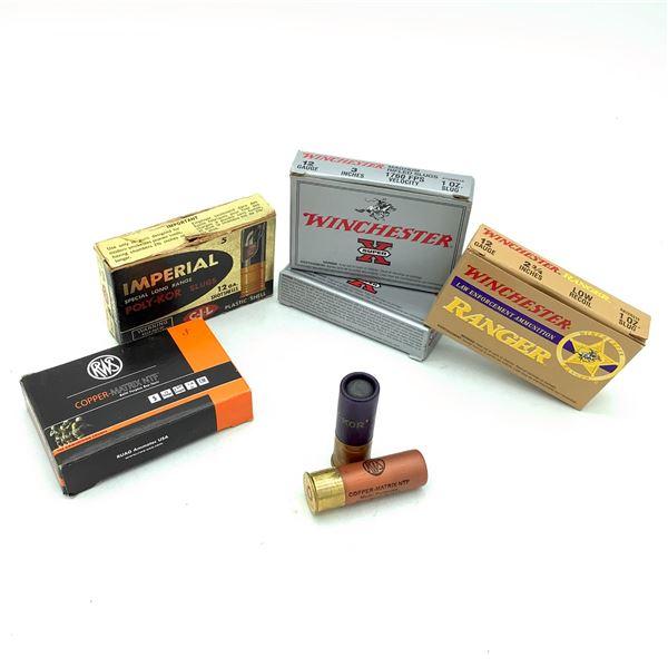 Assorted 12 Ga Slugs Ammunition, 21 Rounds