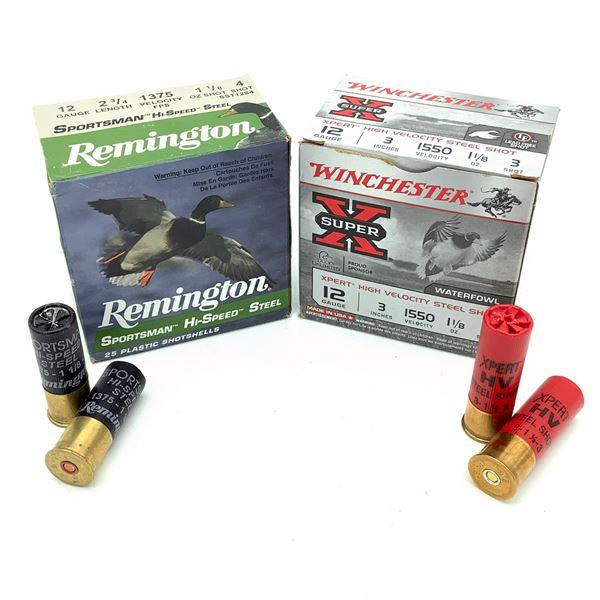 Assorted Steel 12 Ga Ammunition, 47 Rounds