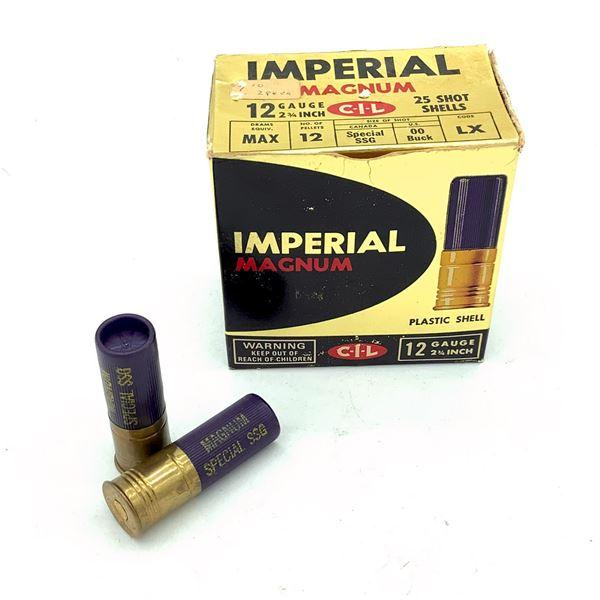 "Imperial 12 Ga Magnum LX 2 3/4"" 00 Buck Ammunition, 11 Rounds"