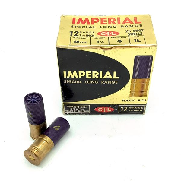 """Imperial Special Long Range 12 Ga 2 3/4"""" #4 Ammunition, 21 Rounds"""