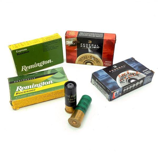 Assorted 12 Ga Buckshot Ammunition, 18 Rounds