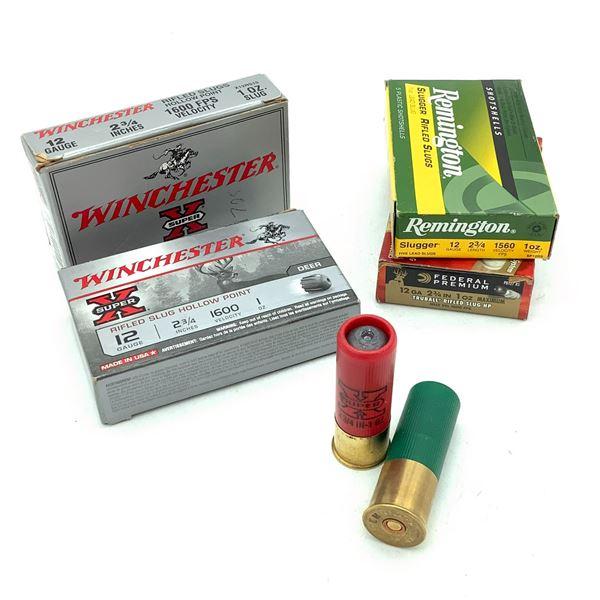 """Assorted  12 Ga 2 3/4"""" 1 Oz HP Rifled Slugs Ammunition, 20 Rounds"""