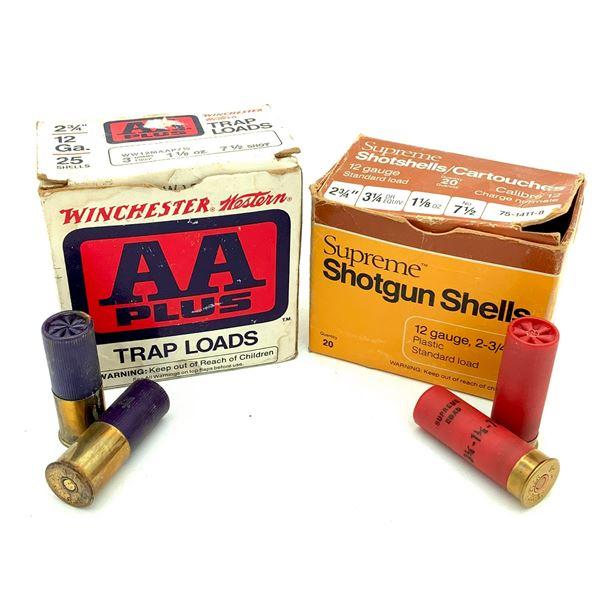 "Assorted 12 Ga 2 3/4"" # 7.5 Ammunition, 27 Rds"