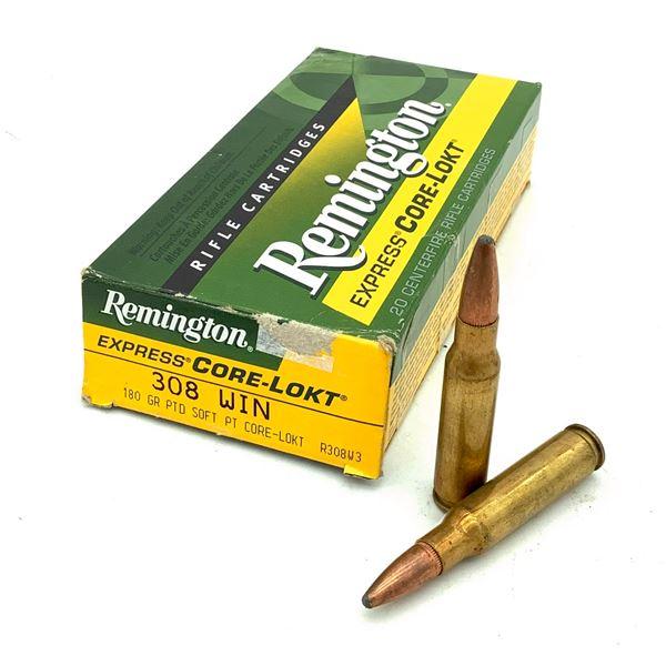 Remington Express Core Lokt 308 Win 180 Grain SP Ammunition, 20 Rounds
