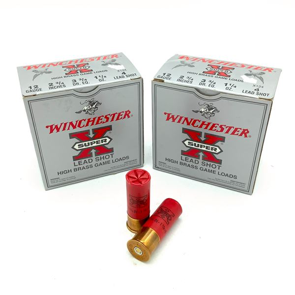 "Winchester Super X 12 Ga 2 3/4"" #4 Ammunition, 39 Rounds"