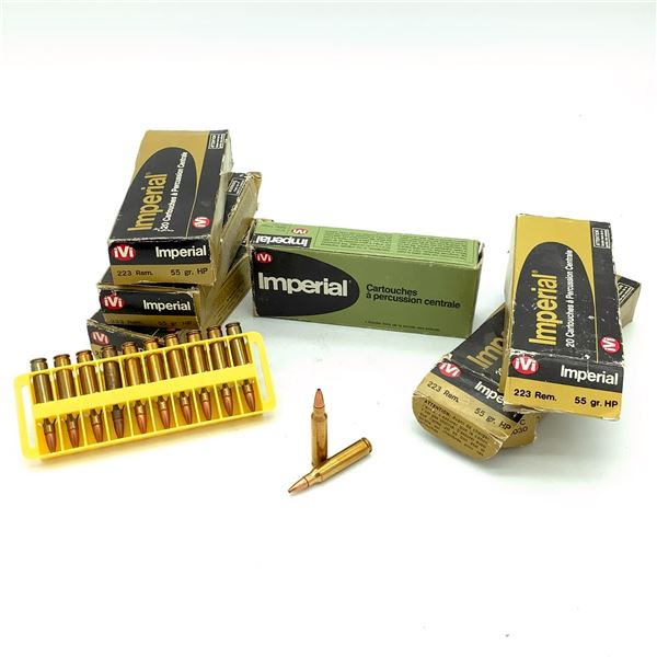Imperial 223 Rem 55 Grain HP FMJ Ammunition, 110 Rounds