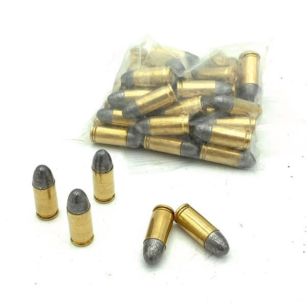 Loose 9mm Luger Lead Round Nose Ammunition, 50 Rounds