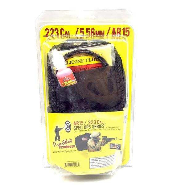 Pro-Shot AR-15 223 Cal/ 5.56 mm Modular Pull Through Pouch Kit, Black, New