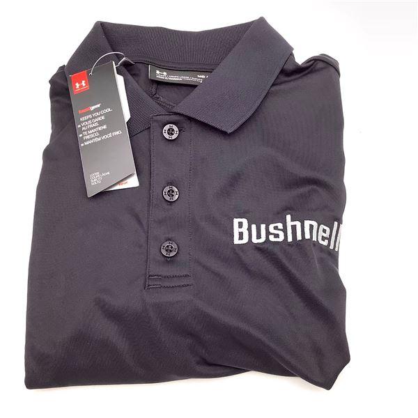 Bushnell Under Armor Collared Shirt, Medium, Grey, New