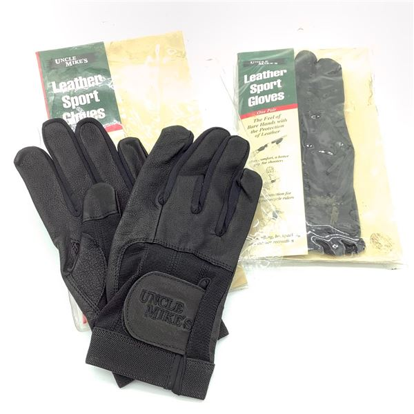 Uncle Mike's Leather Sport Gloves, Small X 2, New