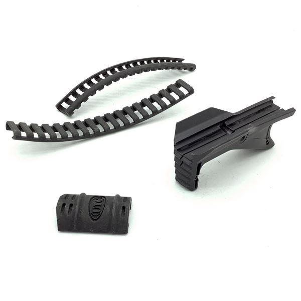 Rail Covers X 3 and Angled Grip, Black