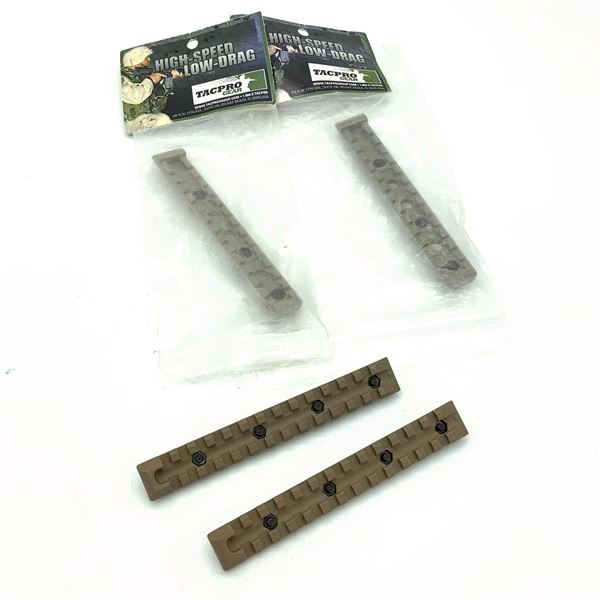 TacPro High Speed/ Low Drag Rails X 2, New and Rails X 2, FDE