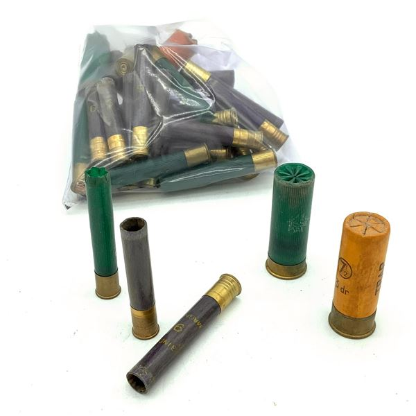 Assorted Shotshell Cases X 33 Pieces