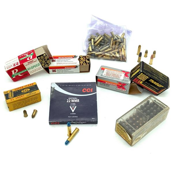 Assorted 22 Cal Short and LR Ammunition and 13 Rounds 22 WMR