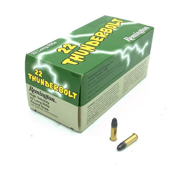 Remington Thunderbolt TB22A 22 LR Ammunition, 500 Rounds