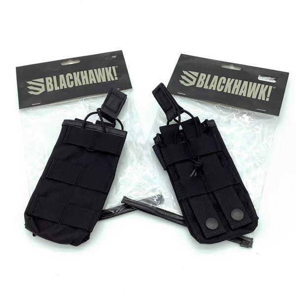 BlackHawk 37CL68BK Strike Single M4/M16 Magazine Pouch, Black, X 2, New