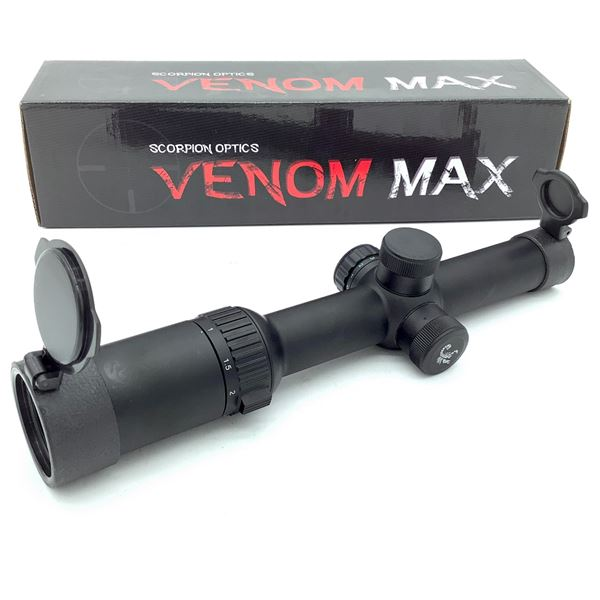 Scorpion Venom Max SVM TAC 1-6 X 24 mm IR Scope With Duplex Reticle, New