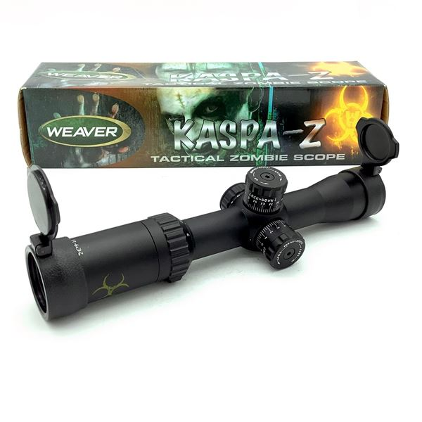 Weaver Kaspa-Z 849843 1.5 - 6 X 32 mm Scope With Illuminated Z-CIRT Reticle, Green, New