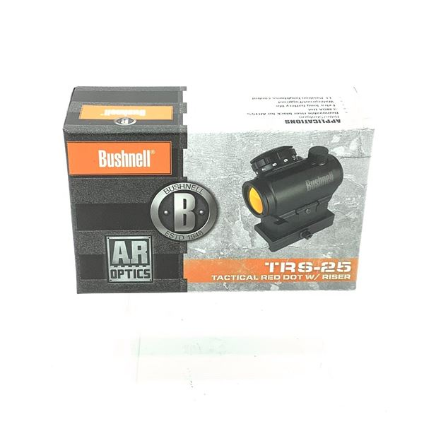 Bushnell TRS-25 Tactical Red Dot Optic With Riser, New in Sealed Box