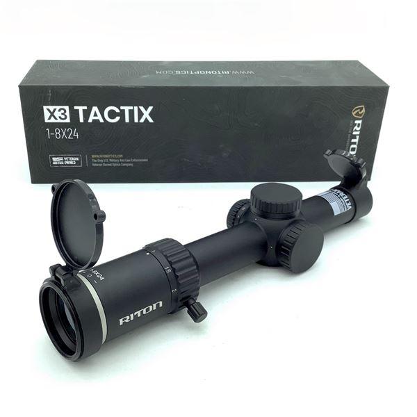 Riton X3 Tactix 1-8 X 24 mm SFP Scope With Illuminated OT Reticle, New