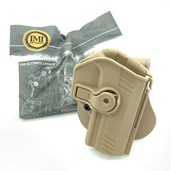 IMI Defense Walther PPX Retention Paddle Holster, for 9mm and 40 Cal FDE, New