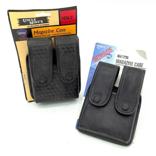 Uncle Mike's Magazine Cases X 2, Black, New