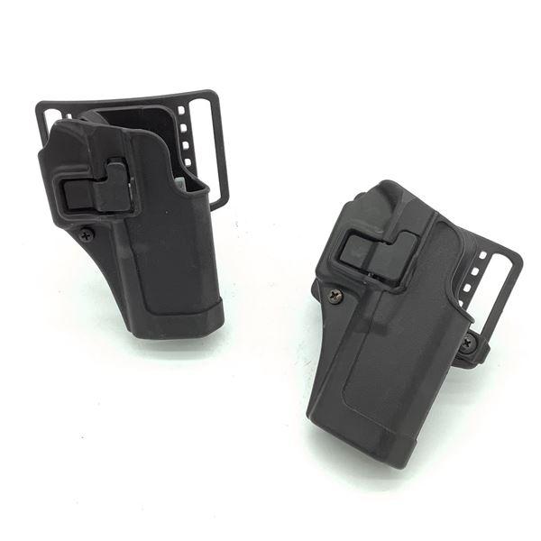 BlackHawk CQC Glock 17/22 Holsters, X 2, Black