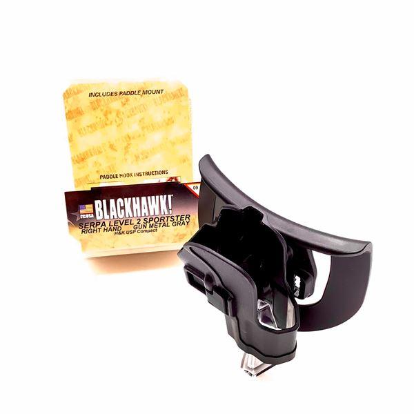 BlackHawk 413509BK-R Serpa LVL 2 RH Sportster H & K USP Compact Holster, BLK