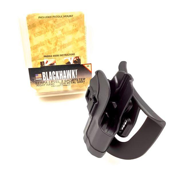 BlackHawk 413509-R Serpa LVL 2 RH Sportster H & K USP Compact Holster, GRY, New
