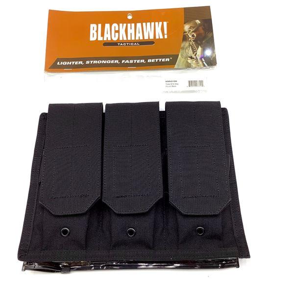 BlackHawk 65MV01BK Triple M16 Magazine Pouch, Black, New