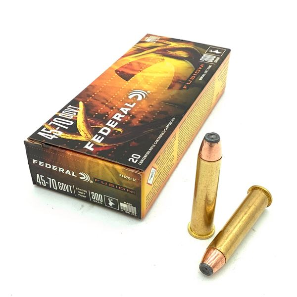 Federal Fusion 45-70 Govt 300 Grain SP Ammunition, 20 Rounds