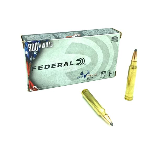 Federal Non Typical Whitetail 300 Win Mag 150 Grain SP Ammunition, 17 Rounds and 3 Cases