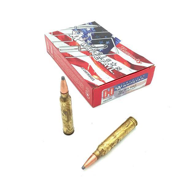 Hornady American Whitetail 300 Win Mag 180 Grain Interlock Ammunition, 20 Rounds