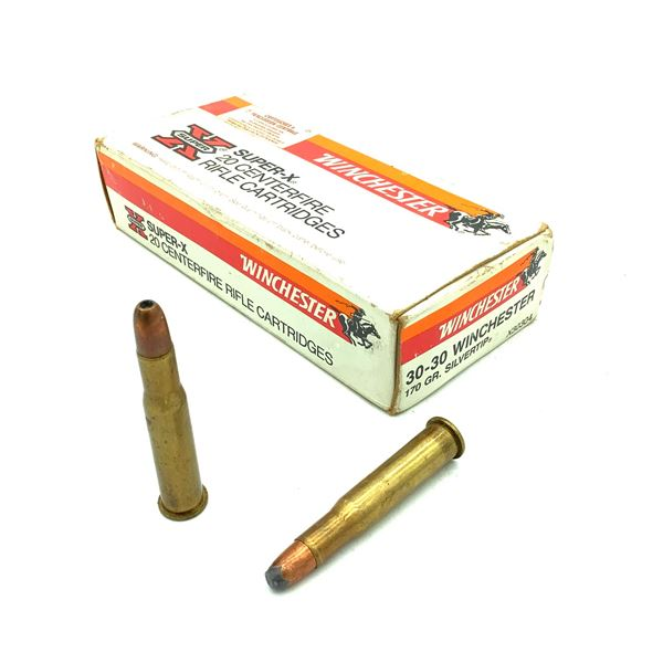 Winchester Super X 30-30 Win 170 Gr Silvertip and HP Ammunition, 18 Rounds