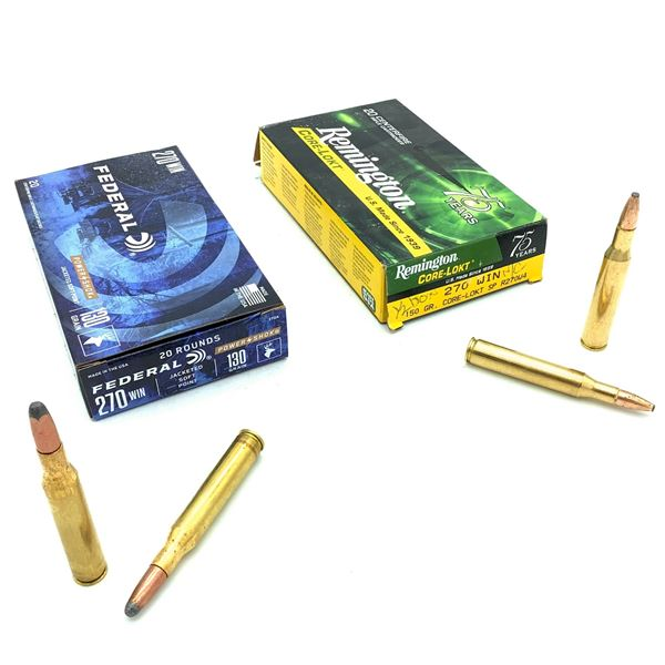 Assorted 270 Win Ammunition, 24 Rounds
