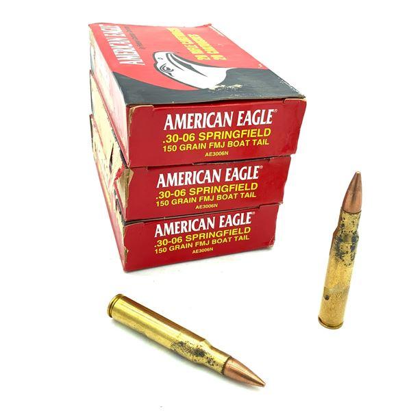 American Eagle 30-06 SPRG 150 Grain FMJ BT Ammunition, 60 Rounds