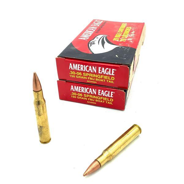 American Eagle 30-06 SPRG 150 Grain FMJ BT Ammunition, 40 Rounds