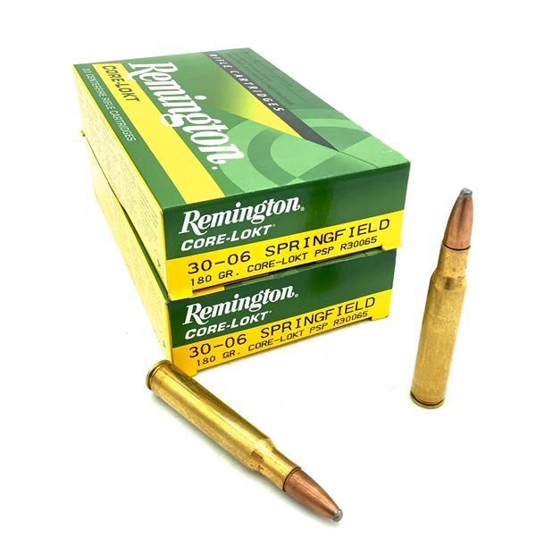 Remington Core Lokt 30-06 SPRG 180 Grain PSP Ammunition, 40 Rounds