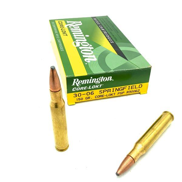 Remington Core Lokt 30-06 SPRG 150 Grain PSP Ammunition, 20 Rounds