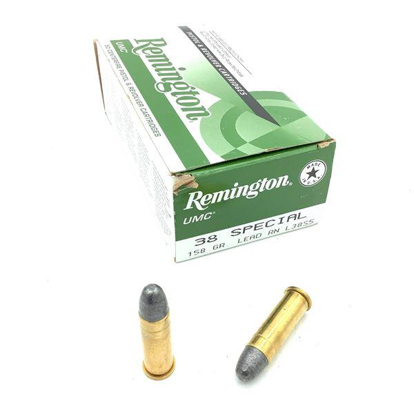 Remington UMC 38 Special 158 Grain LRN Ammunition, 50 Rounds