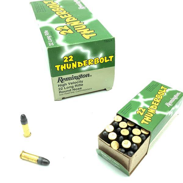 Remington Thunderbolt TB22A HV 22 LR Ammunition, 500 Rounds