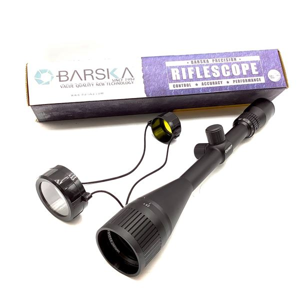 Barska AC10048 Varmint 6.5 - 20 X 50 mm AO, Target Dot Reticle, New