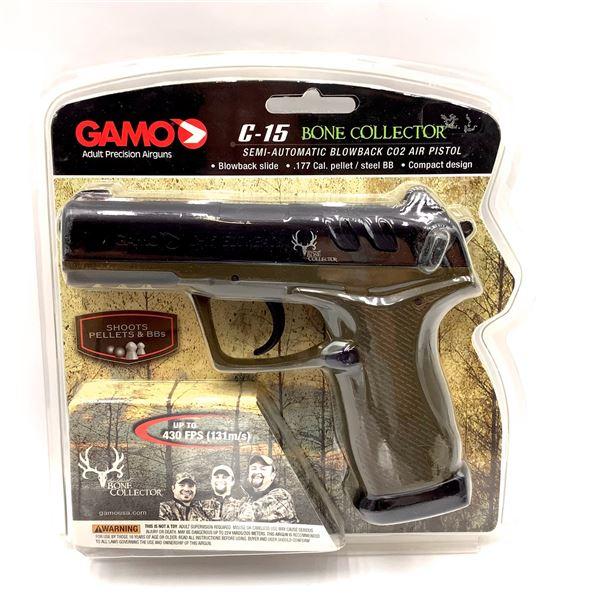 Gamo 611139354 C-15 Semi Auto CO2 .177 Air Pistol, Up to 430 fps, New