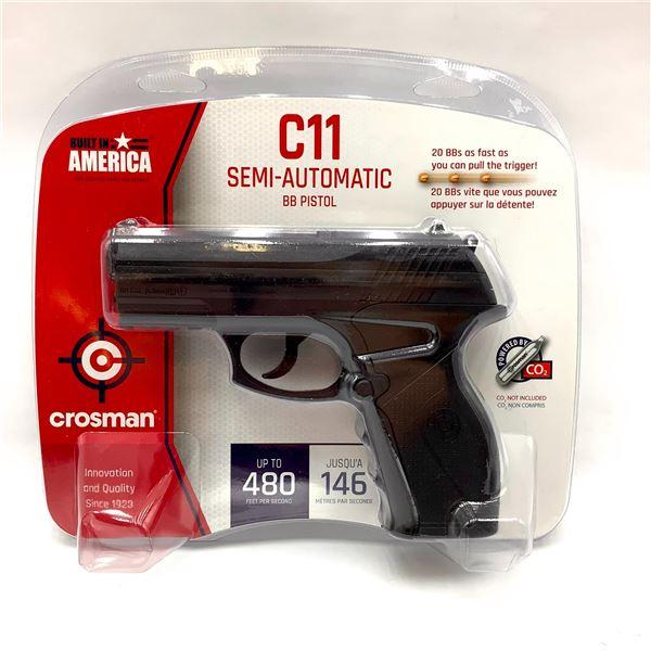 Crosman C11 Semi Auto CO2 BB Pistol, Up to 480 fps, New