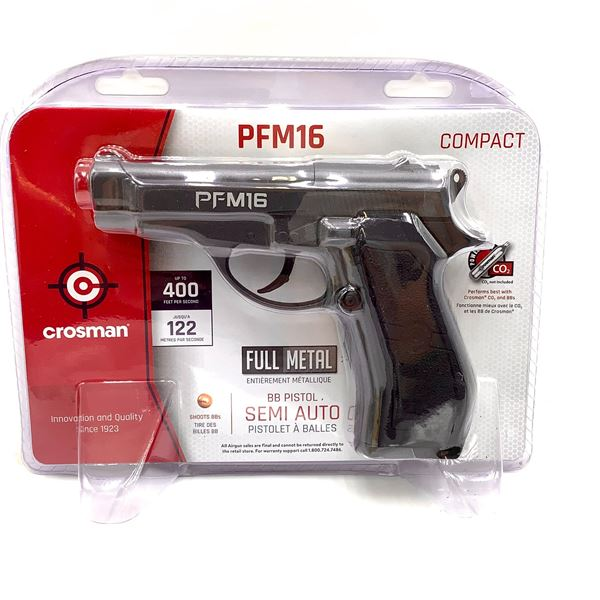 Crosman PFM16 Compact Semi Auto CO2 BB Pistol, Up to 400 fps, New