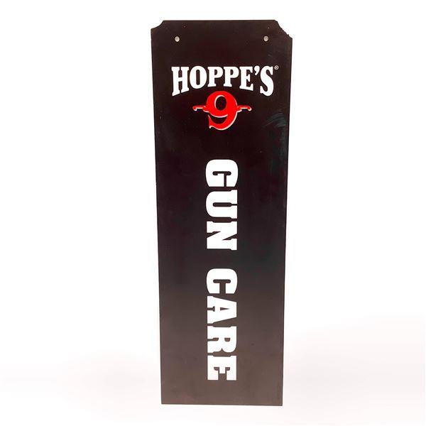 "Hoppe's 9 Gun Care Sign, 24"" X 8"", New"