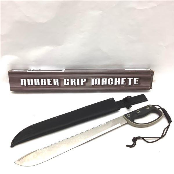 "Rite Edge 926813 Rubber Grip Machete, 17"" Blade With Sheath, New"