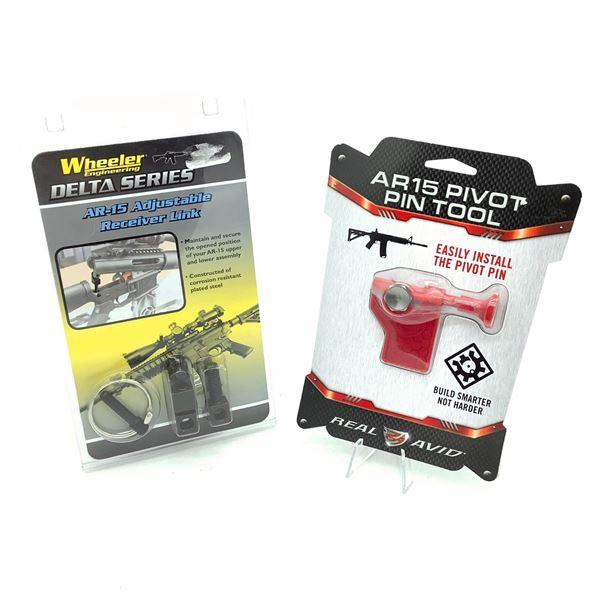 Wheeler AR-15 Adjustable Receiver Link, Real Avid Pivot Pin Installer, New