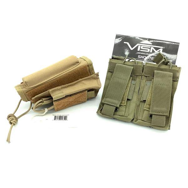VISM Cheek Riser and Double Rifle Magazine Holder, CT, New